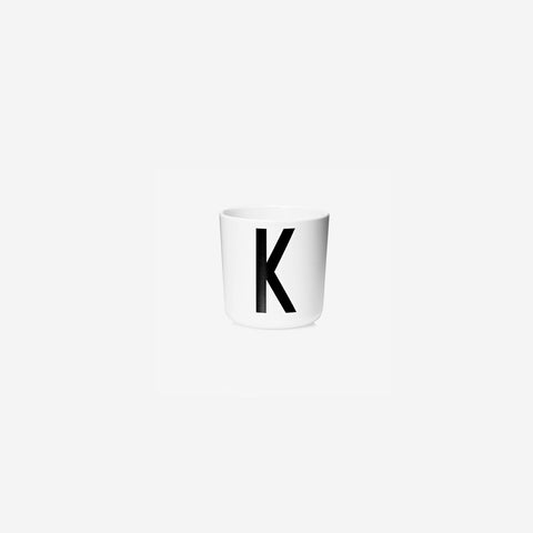 SIMPLE FORM. - Design Letters - Alphabet Melamine Cup K - Children's Tableware