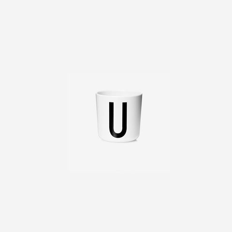 SIMPLE FORM. - Design Letters - Alphabet Melamine Cup U - Children's Tableware