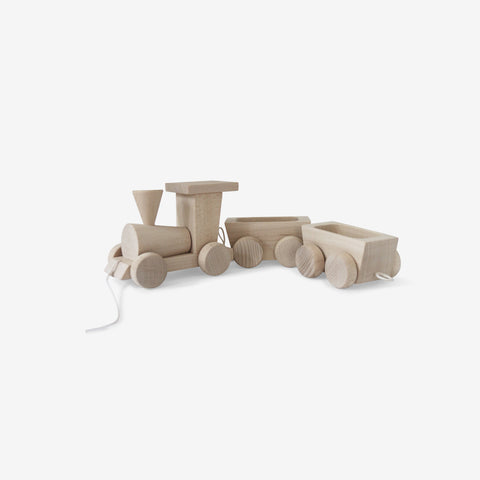 Ella and Frederik - Train with Wagons - Wooden Toy  SIMPLE FORM.