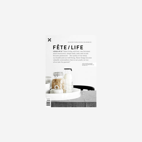 SIMPLE FORM. - Fete Press - Fete Volume 27 - Magazine
