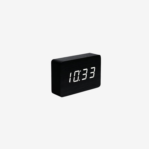 SIMPLE FORM. - Gingko - Click Clock Brick Black - Clock