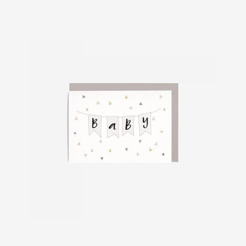 In The Daylight - Card Baby Bunting - Greeting Card  SIMPLE FORM.