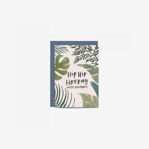 SIMPLE FORM. - In The Daylight - Card Birthday Ferns - Greeting Card