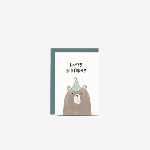 SIMPLE FORM. - In The Daylight - Card Birthday Bear - Greeting Card
