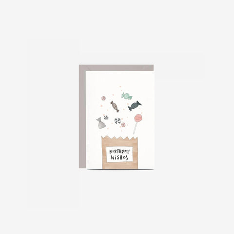 SIMPLE FORM. - In The Daylight - Card Birthday Lolly Bag - Greeting Card