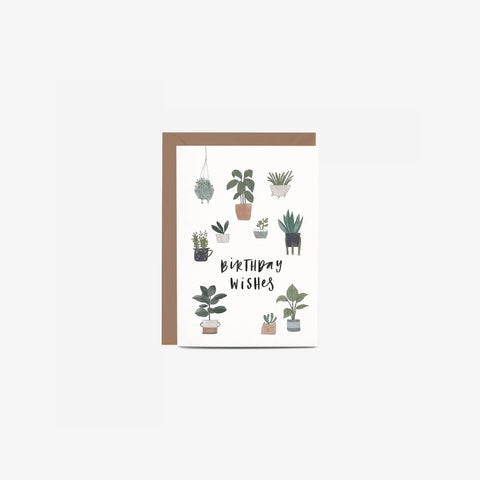 In The Daylight - Card Birthday Potted Plants - Greeting Card  SIMPLE FORM.