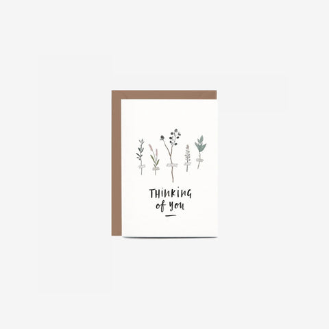 In The Daylight - Card Thinking Of You Botanic - Greeting Card  SIMPLE FORM.