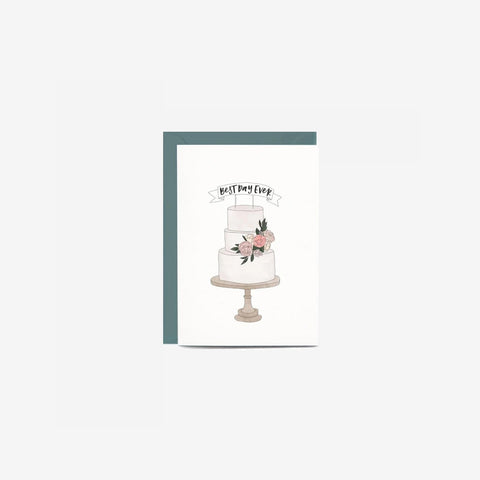In The Daylight - Card Wedding Cake - Greeting Card  SIMPLE FORM.
