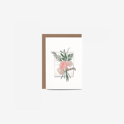 SIMPLE FORM. - In The Daylight - Card Wedding Flowers - Greeting Card