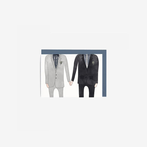 In The Daylight - Card Wedding Man + Man - Greeting Card  SIMPLE FORM.