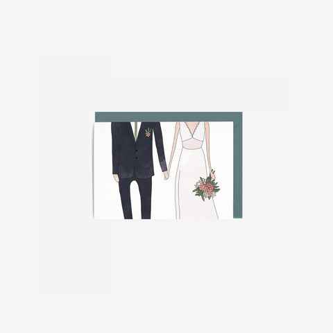 SIMPLE FORM. - In The Daylight - Card Wedding Woman + Man - Greeting Card