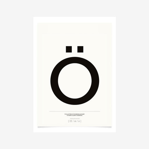 SIMPLE FORM. - Kortkartellet - Ö Print - Prints