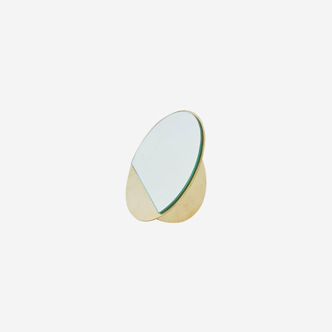 SIMPLE FORM.-Kristina Dam Brass Mirror Sculpture Design object