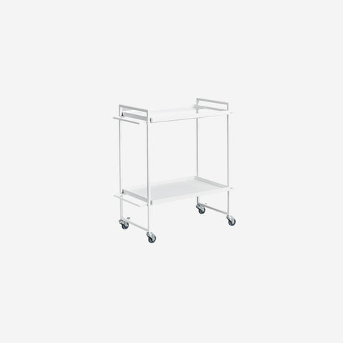 SIMPLE FORM. - Kristina Dam - Bauhaus Bar Trolley White - Trolley