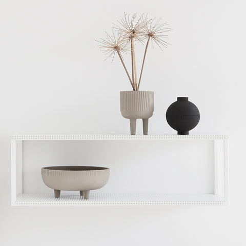 SIMPLE FORM.-Kristina Dam Grid Wall Shelf White Shelf
