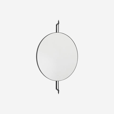 SIMPLE FORM.-Kristina Dam Rotating Mirror Black Mirror
