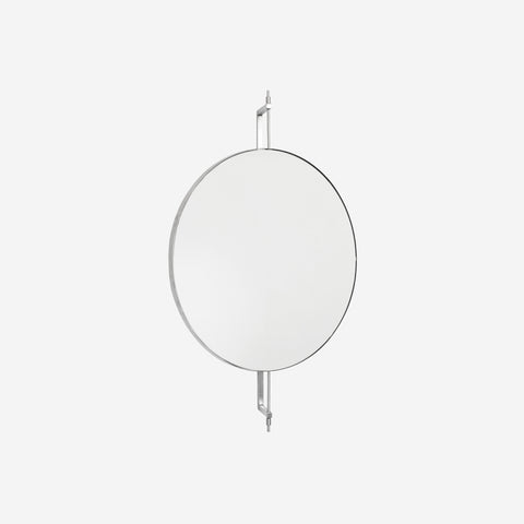 SIMPLE FORM.-Kristina Dam Rotating Mirror Stainless Steel Mirror