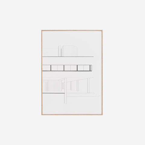 SIMPLE FORM. - Kristina Dam - Villa Savoye Print - Design object