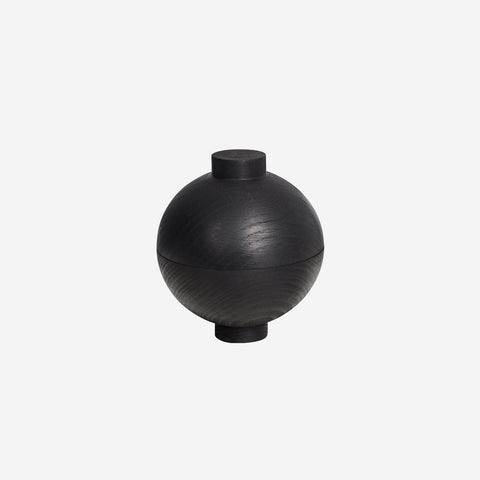 SIMPLE FORM. - Kristina Dam - Wooden Sphere Black XL - Design object