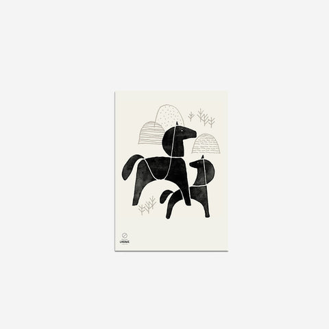SIMPLE FORM. - Laikonik - Nordic Horse Print - Art Prints