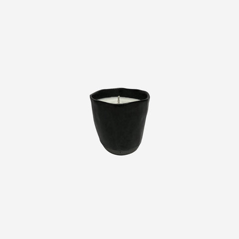SIMPLE FORM. - Little Wick - Japanese Black Small Ceramic Candle - Candle