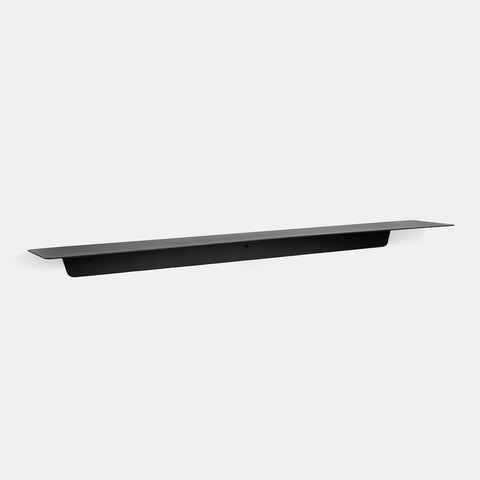 SIMPLE FORM. - Made of Tomorrow - Fold Ledge Shelf Black Long - Wall Shelf