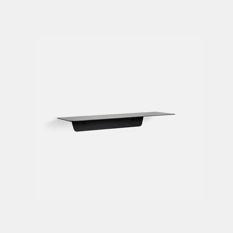 SIMPLE FORM. - Made of Tomorrow - Fold Ledge Shelf Black Short - Wall Shelf