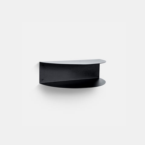 SIMPLE FORM. - Made of Tomorrow - Fold Wall Shelf Black - Wall Shelf