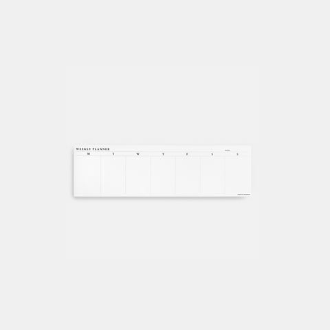 SIMPLE FORM. - Made of Tomorrow - Weekly Desk Planner - Planner
