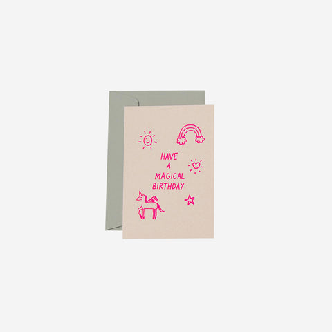 SIMPLE FORM. - Me and Amber - Card Magical Birthday - Greeting Card