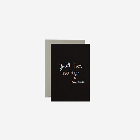 SIMPLE FORM. - Me and Amber - Card Youth Has No Age - Greeting Card