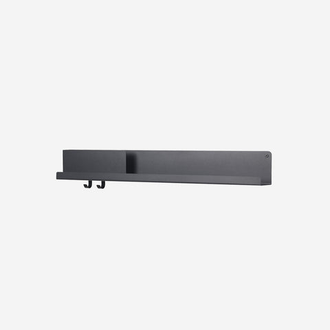 SIMPLE FORM. - Muuto - Folded Shelf Large Black - Wall Shelf