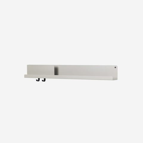 SIMPLE FORM. - Muuto - Folded Shelf Large Grey By Muuto - Wall Shelf