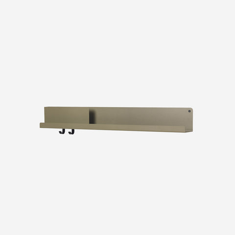 SIMPLE FORM. - Muuto - Folded Shelf Large Olive Green - Wall Shelf