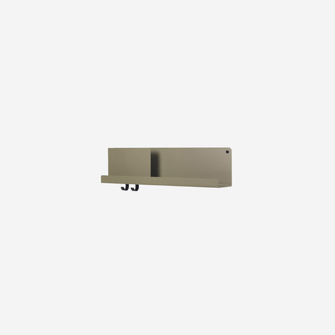 SIMPLE FORM. - Muuto - Folded Shelf Medium Olive Green - Wall Shelf