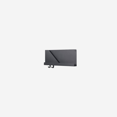 Muuto - Folded Shelf Small Black By Muuto - Wall Shelf  SIMPLE FORM.