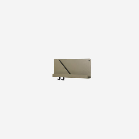 Muuto - Folded Shelf Small Olive Green - Wall Shelf  SIMPLE FORM.