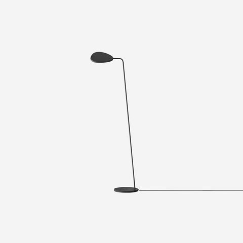 SIMPLE FORM. - Muuto - Leaf Floor Lamp Black - Floor Lamp