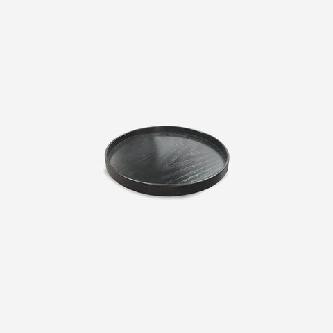 Nel Lusso - Tokyo Round Timber Tray Ø37cm Black - Tray  SIMPLE FORM.