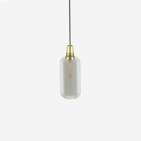 SIMPLE FORM. - Normann Copenhagen - Amp Pendant Large Smoke/Brass - Pendants