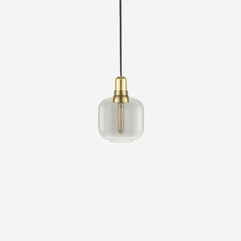 SIMPLE FORM. - Normann Copenhagen - Amp Pendant Small Smoke/Brass - Pendants