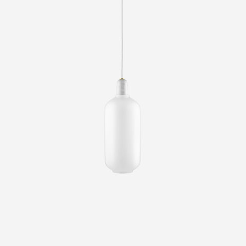 SIMPLE FORM. - Normann Copenhagen - Amp Pendant Large White/White - Pendants