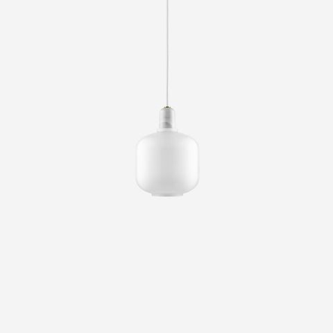 SIMPLE FORM. - Normann Copenhagen - Amp Pendant Small White/White - Pendants