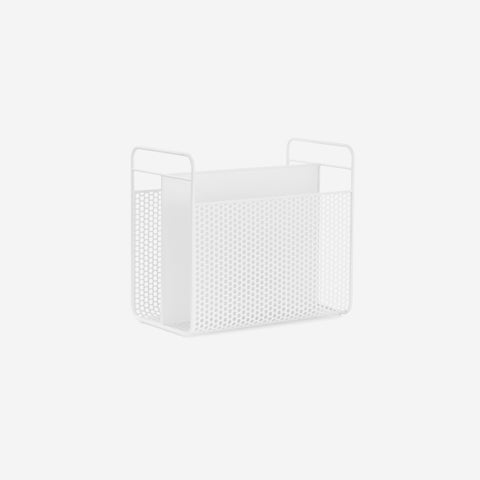 SIMPLE FORM.-Normann Copenhagen Analog Magazine Rack White Magazine Holder