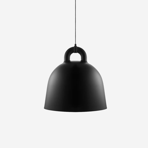 SIMPLE FORM.-Normann Copenhagen Bell Pendant Black Large Pendant