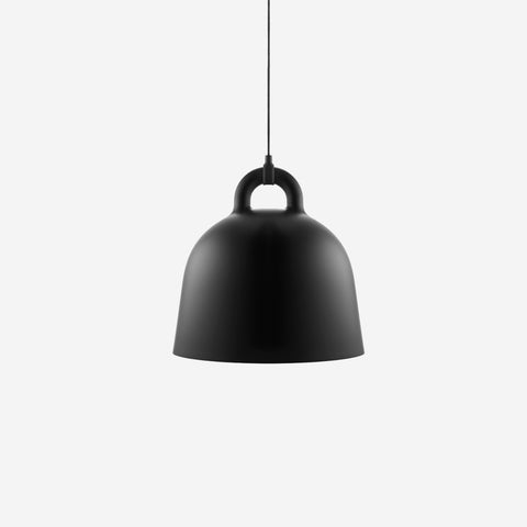 SIMPLE FORM.-Normann Copenhagen Bell Pendant Black Medium Pendant