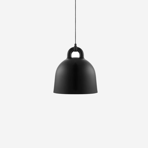 SIMPLE FORM.-Normann Copenhagen Bell Pendant Black Small Pendant