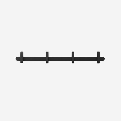 SIMPLE FORM. - Normann Copenhagen - Hoop Coat Rack Black - Clothing Rack