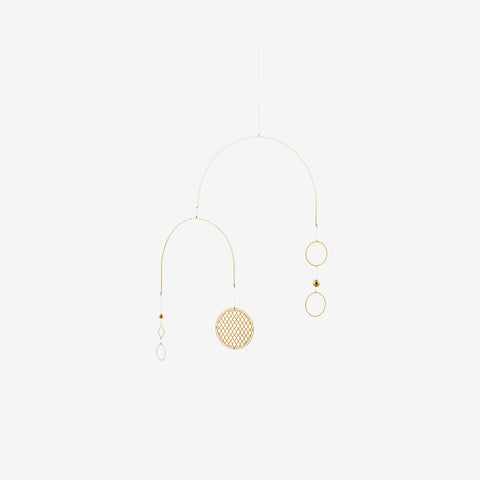 SIMPLE FORM. - Normann Copenhagen - Circle Brass Mobile - Mobile