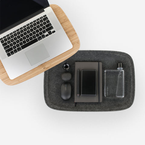 SIMPLE FORM.-Objct Lapod Lap Desk Charcoal Desk Accessories